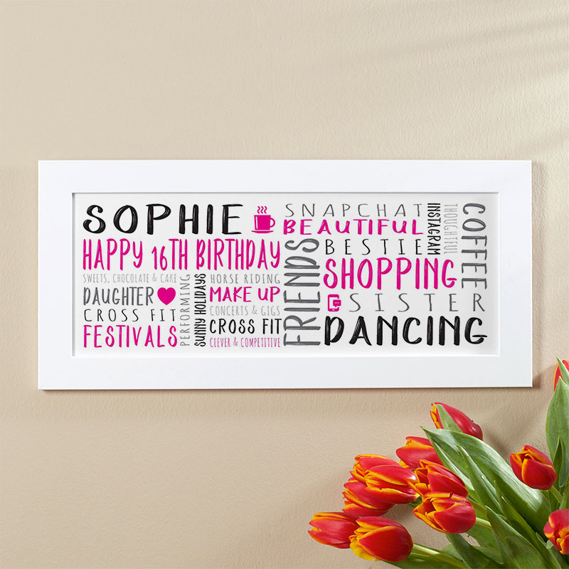 Personalised 16th Birthday Gifts With On Screen Previews
