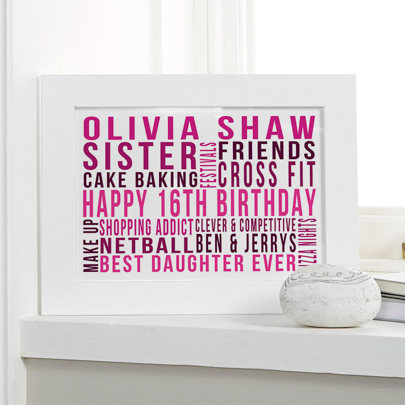Personalised 16th Birthday Gift Ideas For Girls