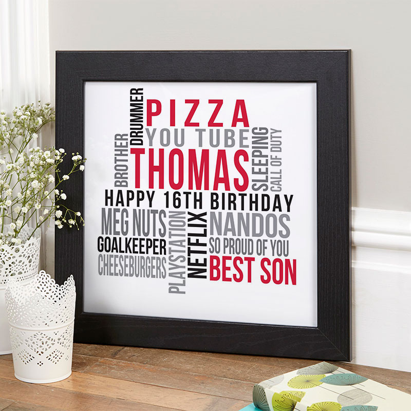 personalised 16th birthday gift for boys