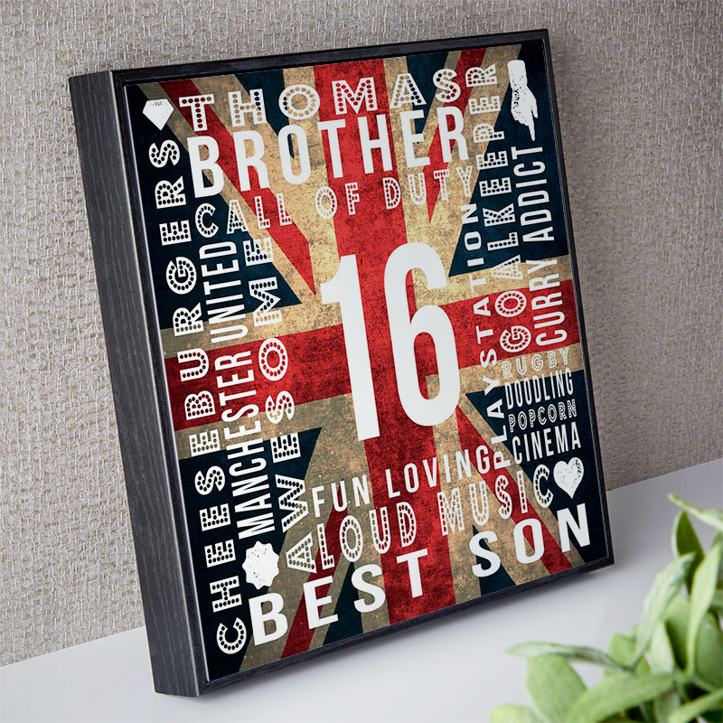 16th birthday gift ideas for boys & Personalised 16th Birthday Gifts with On Screen Previews ...