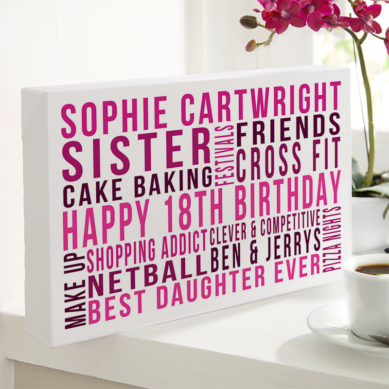 personalised 18th birthday gift for daughter