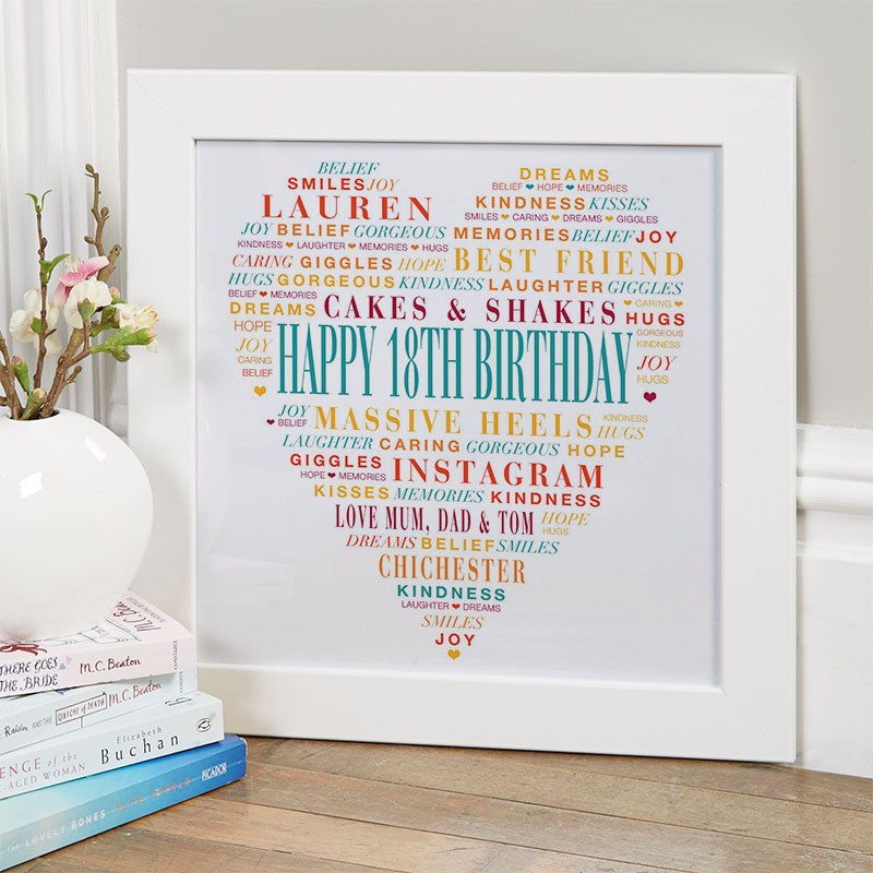 Personalised 18th Birthday Present for Girls