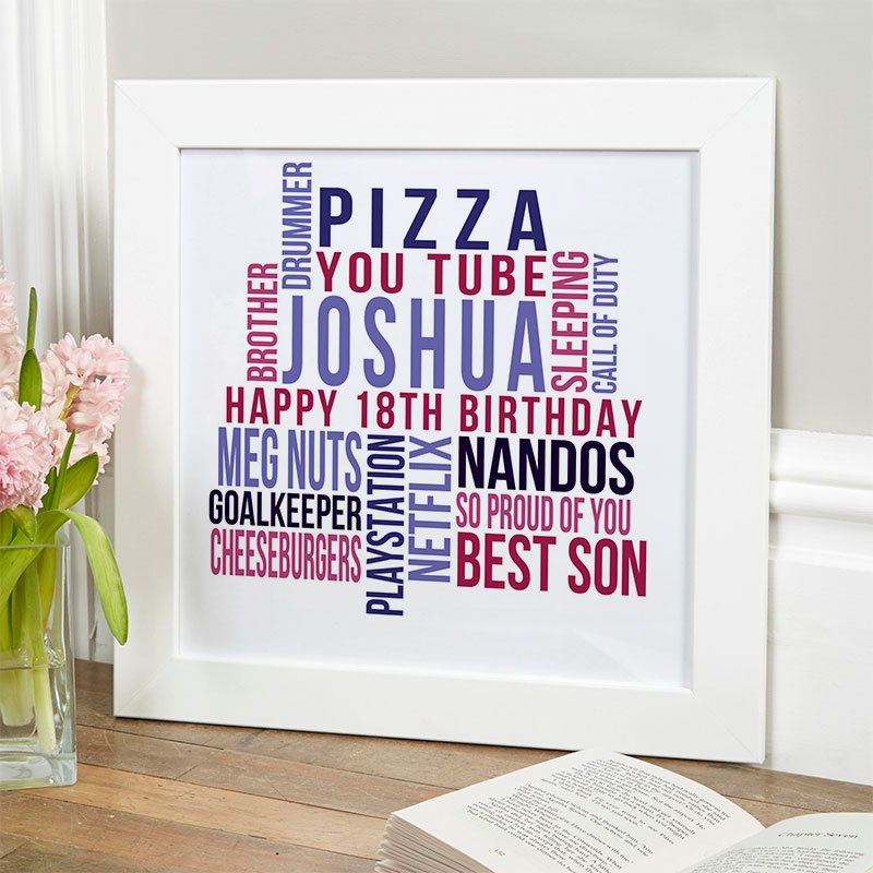 personalised present for boy 18th birthday memories
