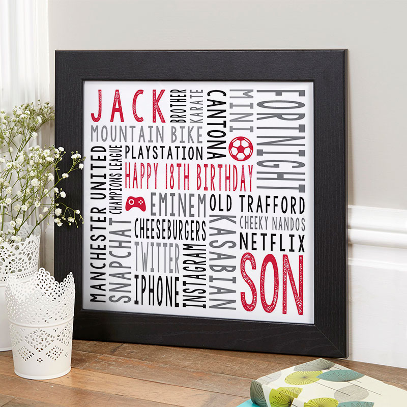 18th birthday gift for boys personalised