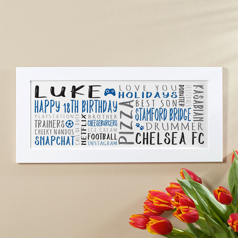 boys 18th birthday personalised gift