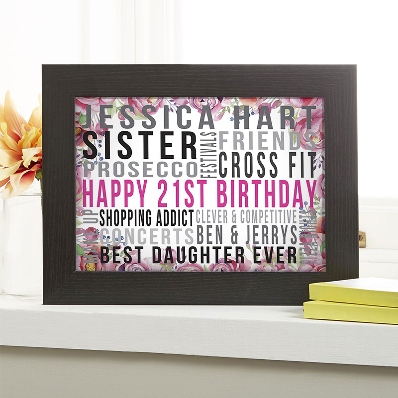 Personalised 21st Birthday Gifts With Words