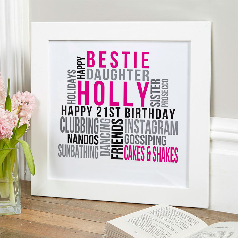 21st Birthday Personalised Gift Ideas For Her