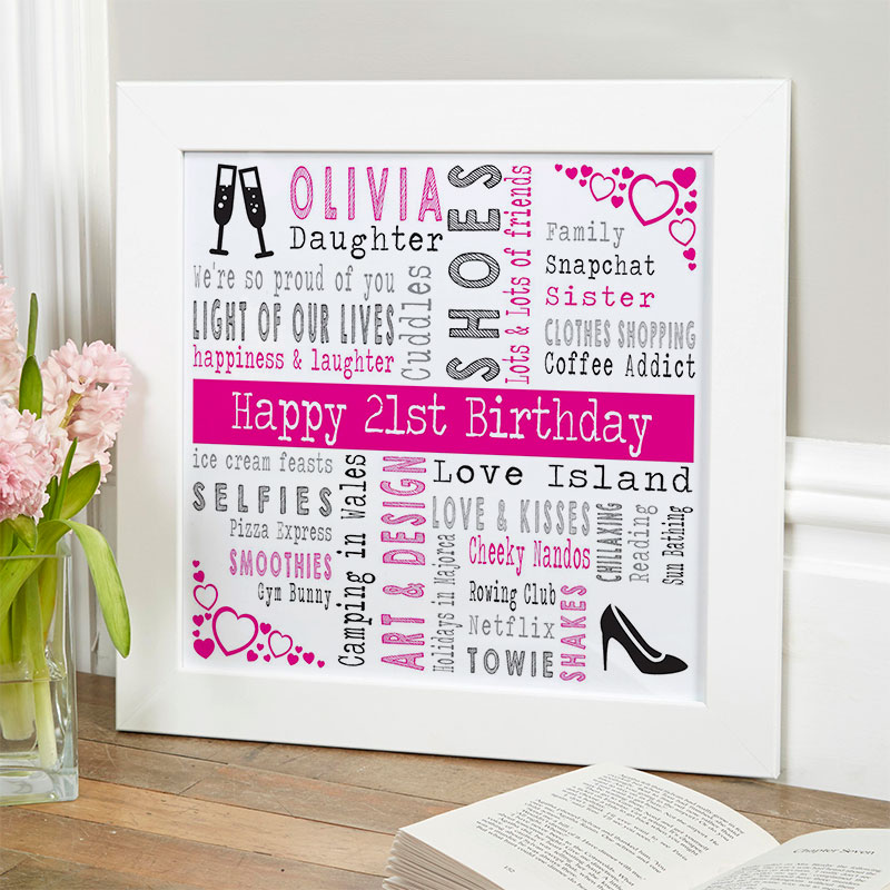 Personalised 21st Birthday Present For Her