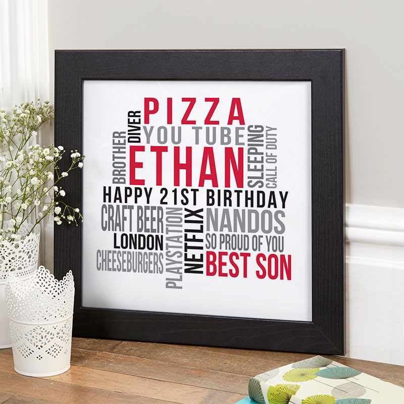 personalised present for boy 21st birthday memories