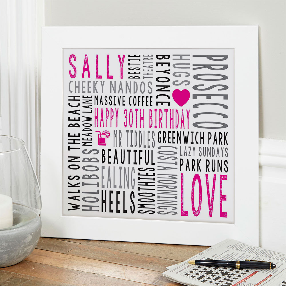 Personalised 30th Birthday Gifts For Her