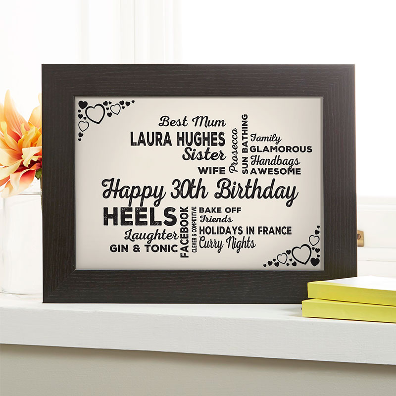 Personalised 30th Birthday Present For Her