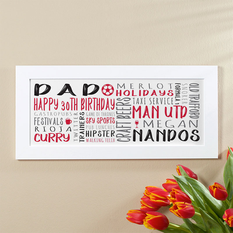 mens 30th birthday personalised gift