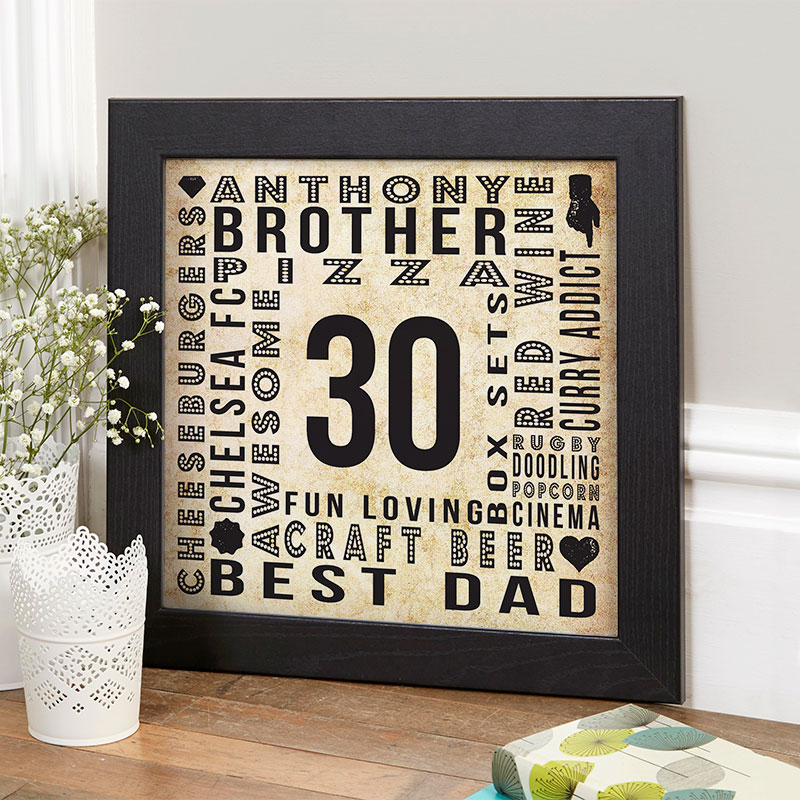 30th Birthday Gifts Present Ideas For Men
