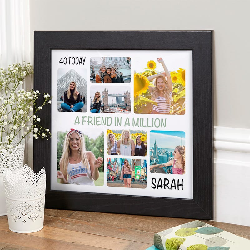 40th birthday present photo collage wall art