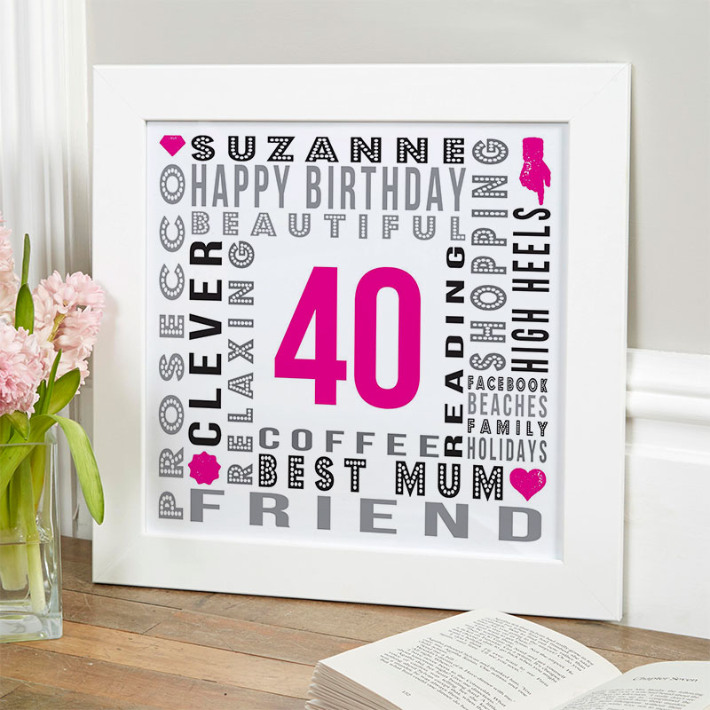 Personalised gifts for Birthdays typographic word art Prints Posters Canvases