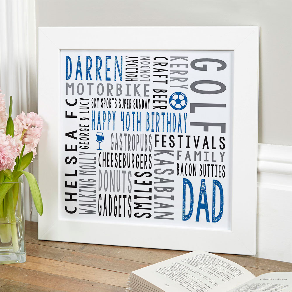 40th birthday gift for him personalised