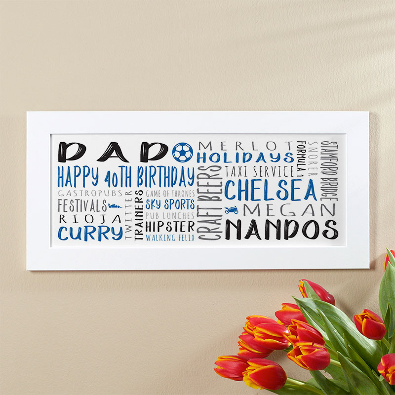 mens 40th birthday personalised gift