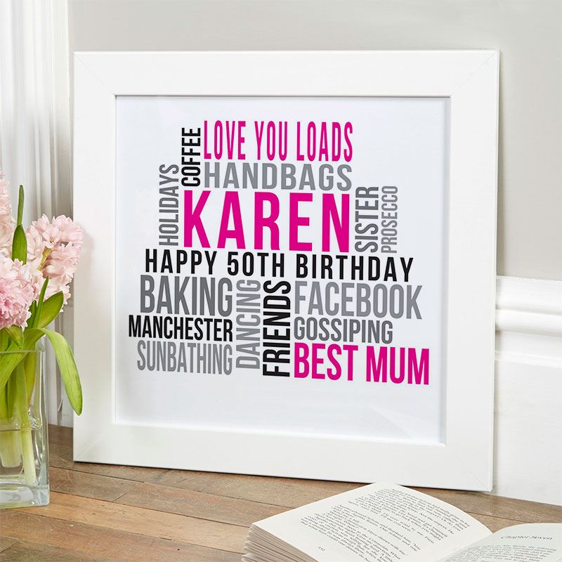 Personalised 50th Birthday Gifts For Her