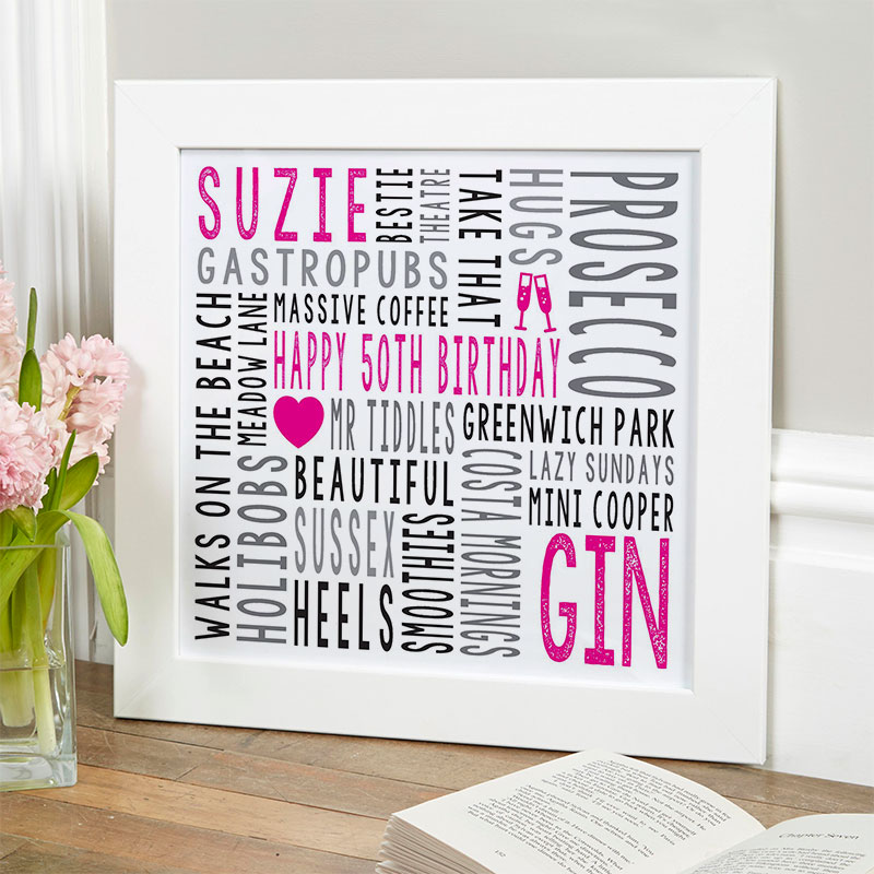 50th birthday personalised gift for her