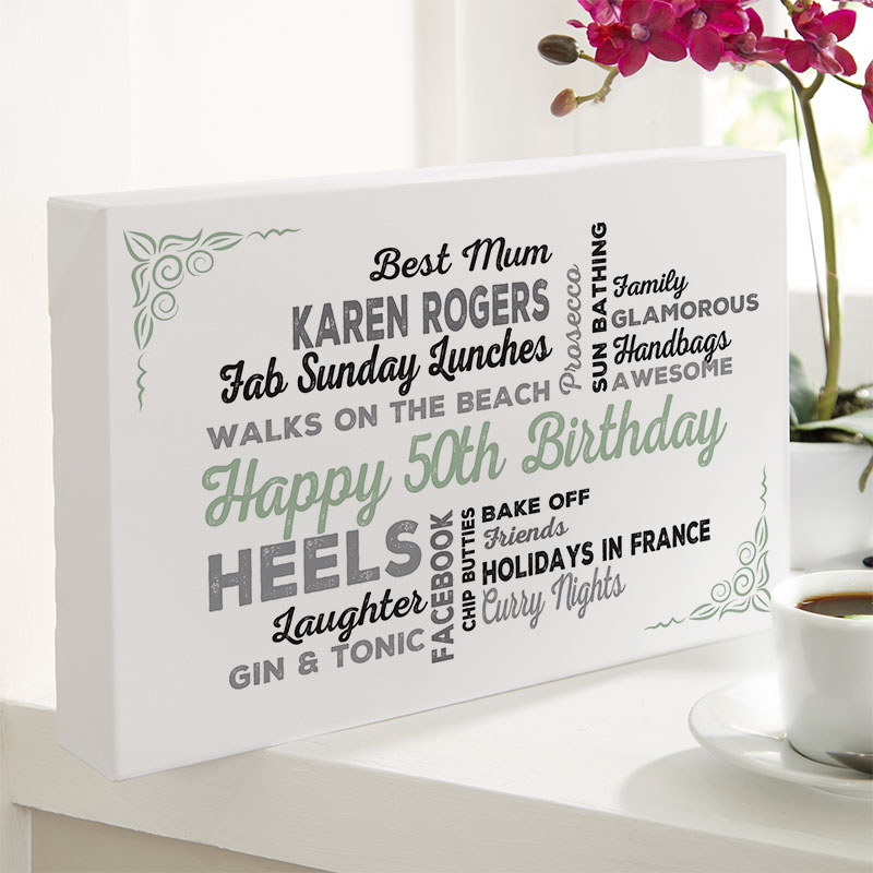 Personalised 50th Birthday Presents For Her