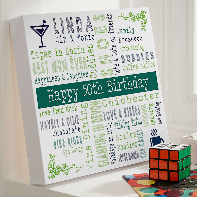 Personalised 50th Unique Birthday Gifts For Her