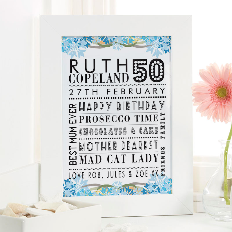 Personalised 50th Birthday Present Ideas For Her