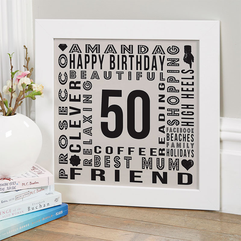 Personalised 50th Birthday Gift Inspiration For Her