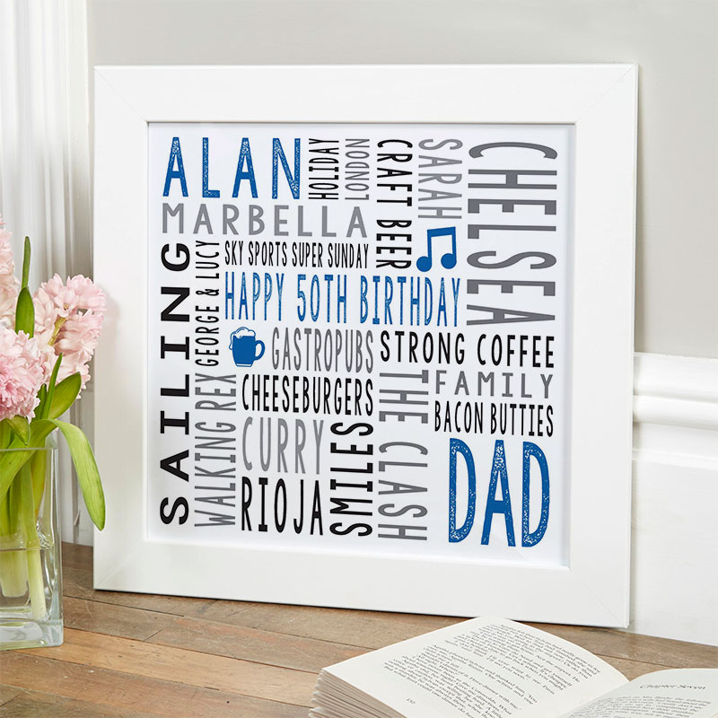 50th birthday gift for him personalised
