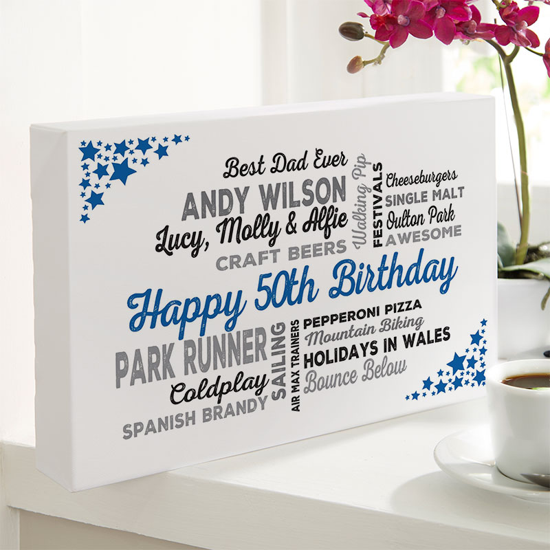 Personalised 50th Birthday Present For Him