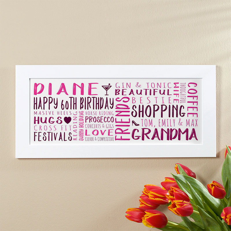 Personalised 60th Birthday Gifts For Her