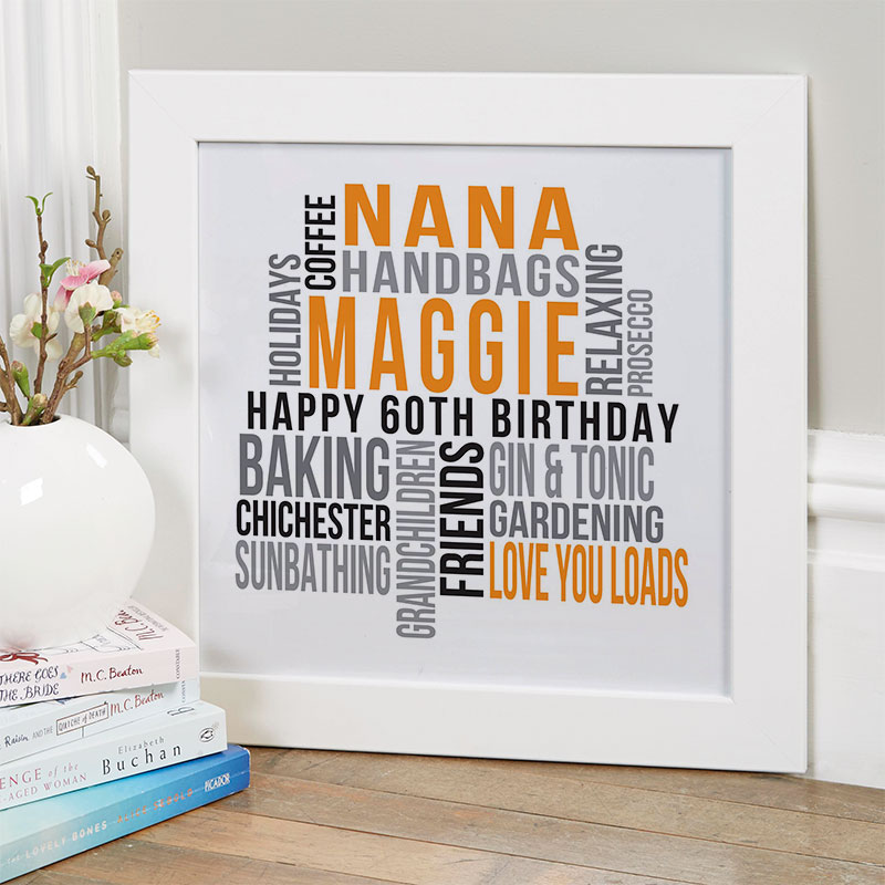 Personalised 60th Birthday Gifts Of Wall Art