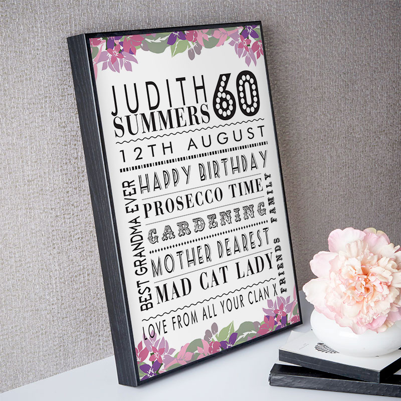 Personalised 60th Birthday Present Ideas For Her