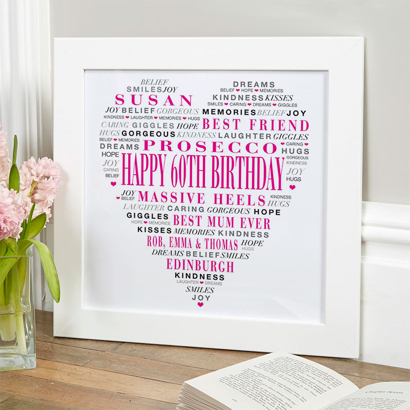 Personalised 60th Birthday Present Gift For Her