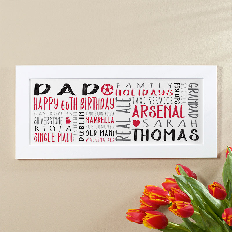 mens 60th birthday personalised gift
