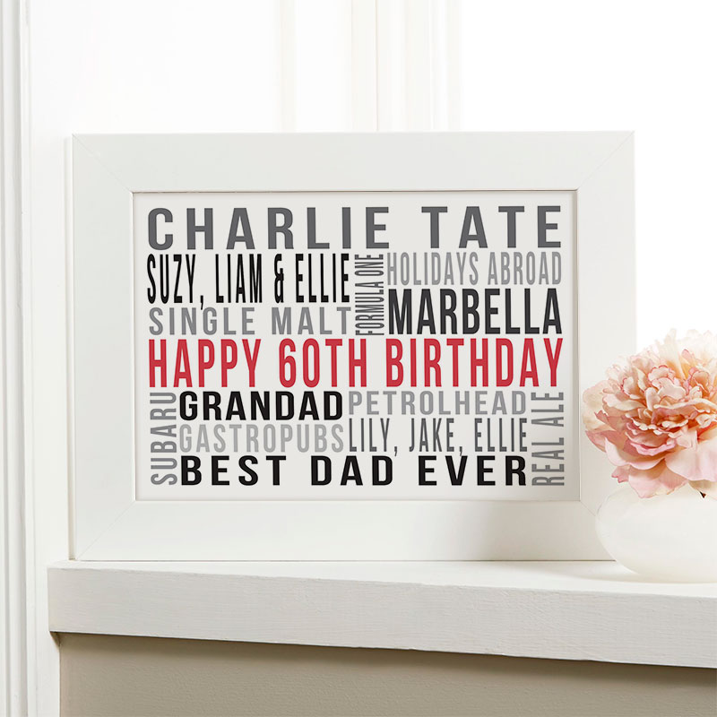 Personalised 60th Birthday Gift Ideas For Him