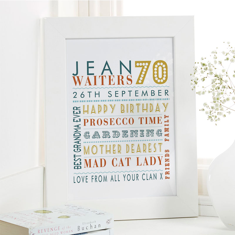 Ideas For Mothers 70th Birthday
