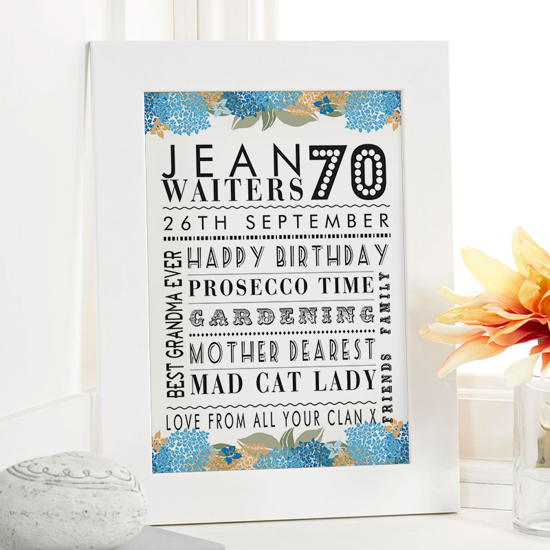 70th Birthday Gifts For Her