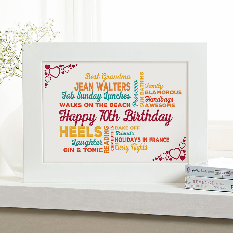 Personalised 70th Birthday Present For Her