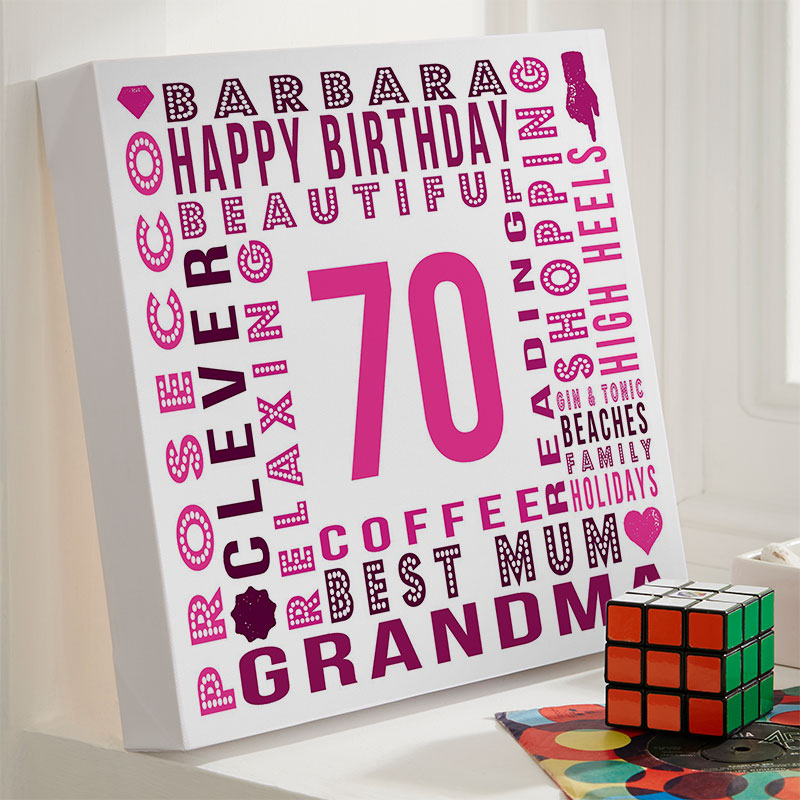 Personalised 70th Birthday Gift Inspiration For Her