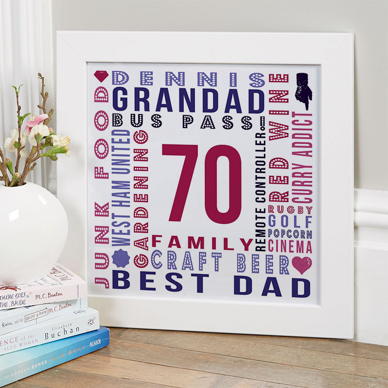 70th Birthday Gifts Present Ideas For Men