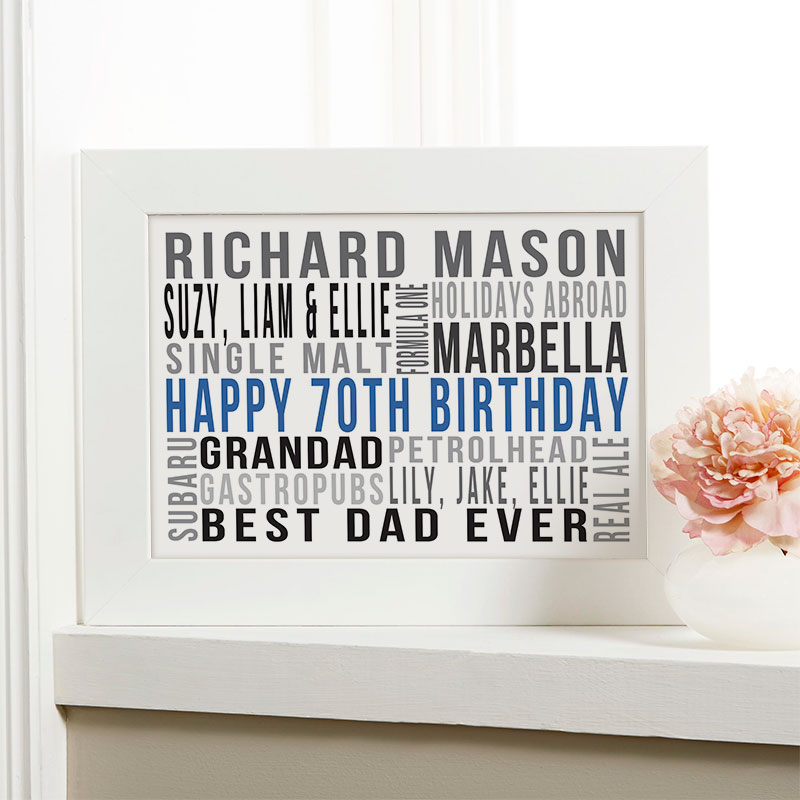 Personalised 70th Birthday Gift Ideas For Him