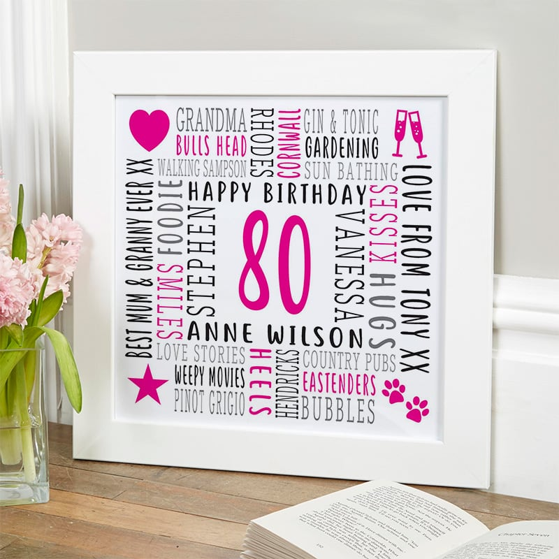 gift ideas for 80 year old woman personalised picture