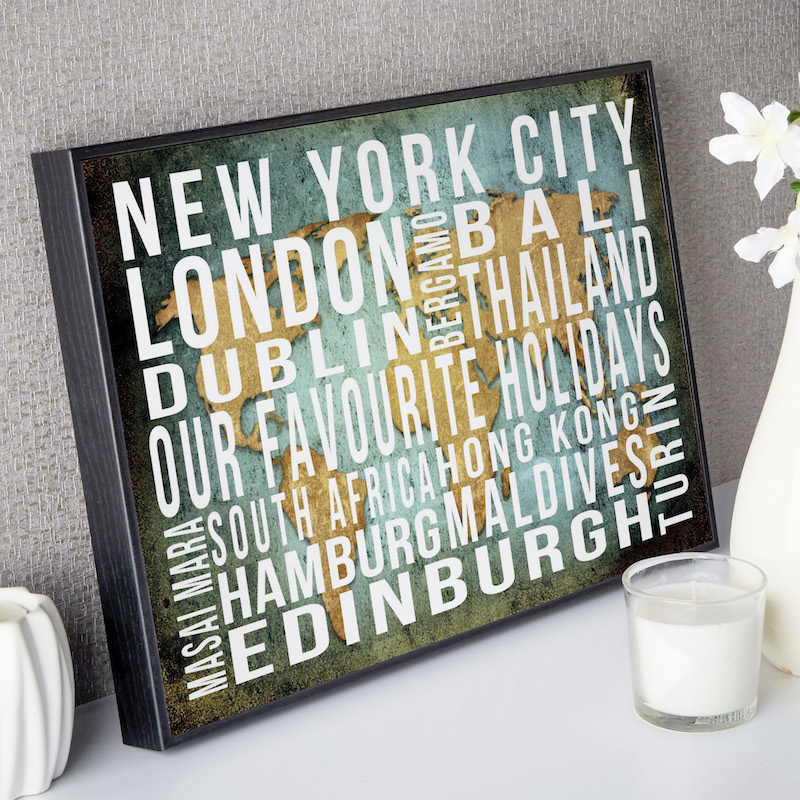 Personalised word art destination prints canvases live previews gumiabroncs Choice Image