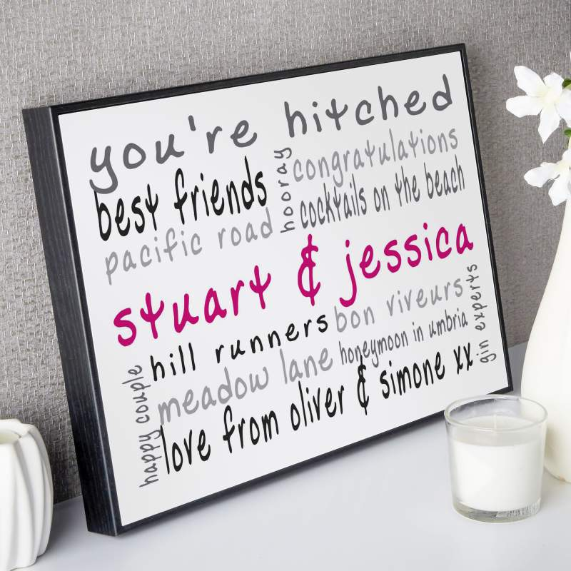 personalised word print picture gift