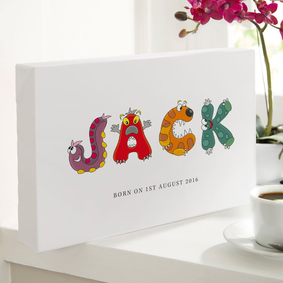 Unique childrens name prints canvases create preview on screen