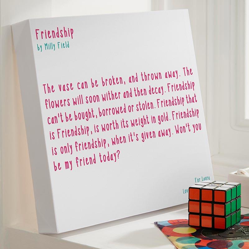 personalised poem or verse print chatterbox walls