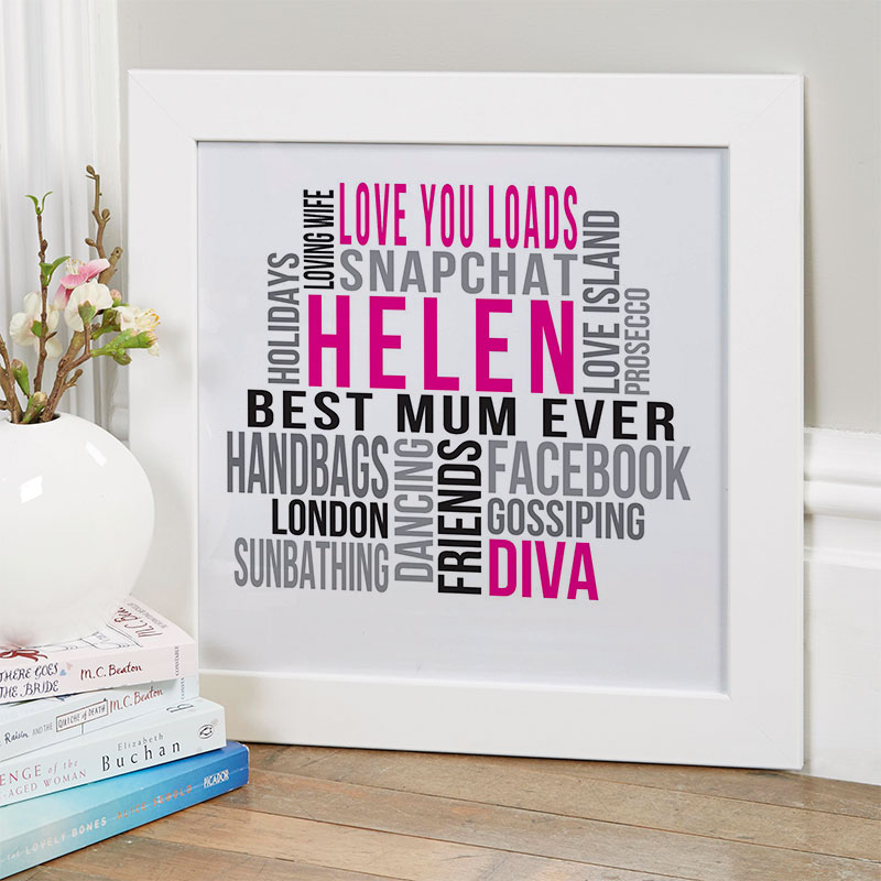 Personalised Christmas Gift For Mum Of Wall Art Chatterbox Walls