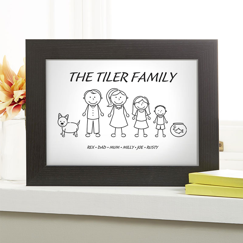 christmas gift idea family characters
