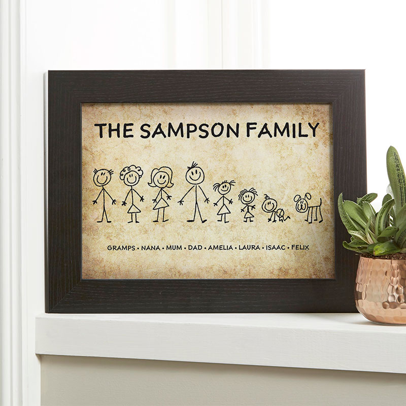 personalised family characters