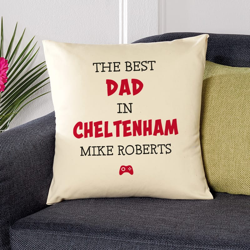 dad gift ideas personalised cushion
